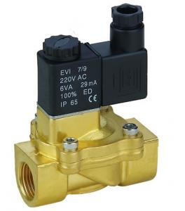 China 1/8〃Low Power Diaphragm Solenoid Valve , Direct Acting Electric Air Solenoid Valve on sale