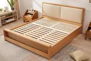 China Pine Queen Size Solid Wood Bed Frame With Drawers Chunky Wooden Beds High Standard on sale