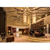 China Commercial Luxury Style Hotel Lobby Furniture With Coffee Table And Sofa Sets on sale