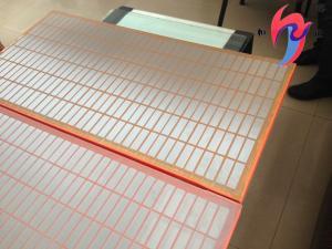 China 20-325 Mesh Steel Frame Brandt Shaker Screens Oil Sieve Screen Easy Install on sale