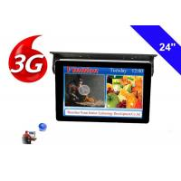 China Bus TV Monitors 24 Inch LCD Display with 3g network cloud managing system on sale