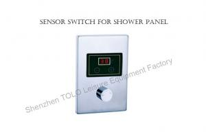China Sensor Switch Stainless Steel Steam Room Accessories With 4 Pcs Colorful Led Light on sale