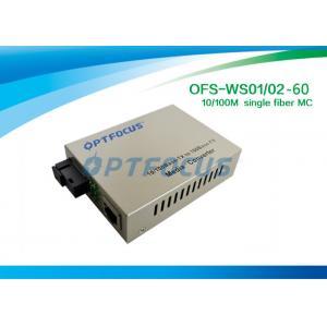 China Gigabit Optical Converter/ SC Single Ethernet Fiber Optic Converter1310nm 1550nm SM 60KM on sale