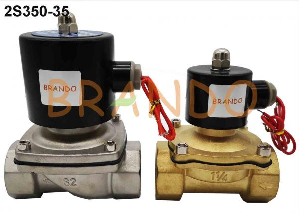 2S350-35 G1-1//4 inch Normally Open Stainless Steel Electric Solenoid Valve for Water Air 2# Stainless Steel Electric Solenoid Valve