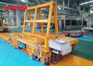 China Stable Start Battery Transfer Cart On Rails DC Motor Flatbed 12 Months Warranty on sale