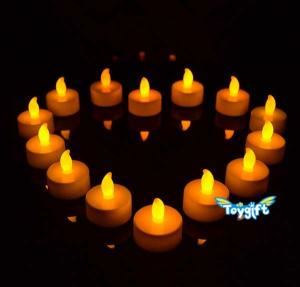 China Flickering LED Tea Light Battery Candles on sale