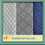 Knitted Chinese Printing Auto Upholstery Fabric Grey  For Seat Cover / Lining