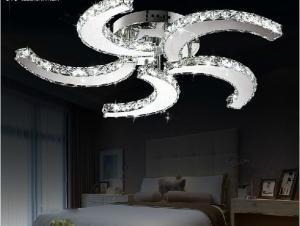 China New modern lustre Led crystal ceiling fan lights  home decorative lighting lamps on sale