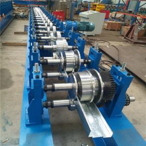 China Notch Punching Steel Door Frame Roll Forming Machine With 45 Degree Cut on sale