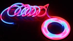China Addressable pixel neon flexible 24v digital dmx rgb Neon-Flex Flat 11x19mm on sale