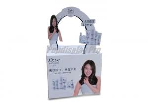 China Paper Cardboard Retail Pallet Displays For Hair Care Shampoo 1 Arched Logo On Top on sale