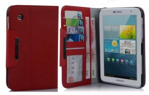 China Custom Tablet PC Leather Case Wallet Stand Cover For Samsung Galaxy Tab 2 7.0 P3100 on sale