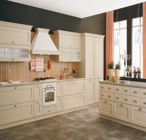 Quality White Color White Shaker Kitchen Cabinets , Pre Assembled Kitchen Cabinets for sale