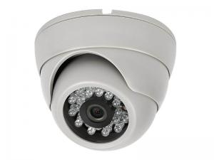China White PAL / NTSC Color Dome Camera Infrared Night Vision For Hotel on sale