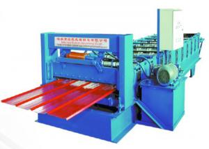 China 0.5-0.8mm Thick Roof Tile Roll Forming Machine 8-10m/ min For Construction Steel on sale