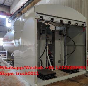 China 2019s new 5tons Skid LPG Filling Plant for home cylinders for sale,skid-mounted lpg gas tank with electronic scales on sale