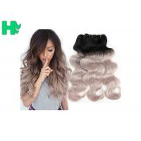 China 16 Inch Brazillian Human Remy Hair Extensions , Black Body Wave Hair on sale
