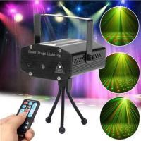 Mini Disco DJ Club Gypsophila Laser Projector with Remote Control & Sound Active & Auto Mode Function Black