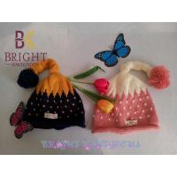 Adult Warmly Knit Hats With Black , Pink For Winter , Hand Knitted Hats