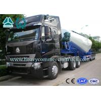China High Efficiency Tri-axle V Shape Cement Bulker Trailer With Mechanical Suspension on sale