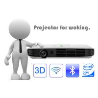 White DLP LED RGB Portable Powerpoint Projector All In One Projector 1920*1080