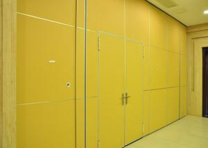 China Demountable Partition Wall With Sliding Door , Top Hung Folding Sliding Partition on sale