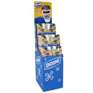 China Corrugated Eco-friendly Cardboard Display Stands Retail Custom Made for Supermarkets on sale