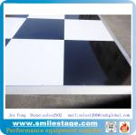High Glossy Black and White Dance Floors Wooden Dance Floors for Events