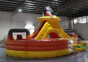 China Customized Mickey Mouse Bounce House , Blow Up Fun House With Tunnel on sale