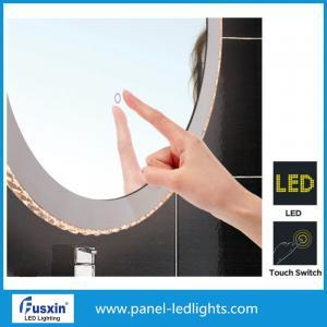 China Объезжайте косметическим освещенное кругом зеркало макияжа, умное зеркало ванной комнаты переключателя касания on sale