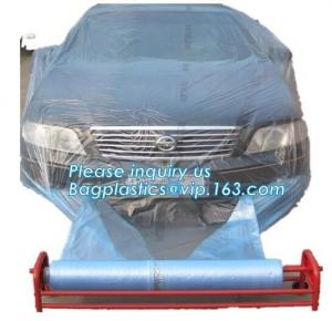 China auto polyurethane masking plastic for painting 4*300m, 3m plastic auto paint masking protection film for cars, bagplasti on sale