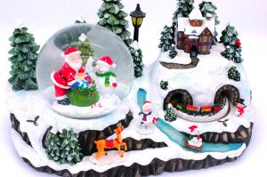 China Christmas Holiday Music Box with snow globe on sale