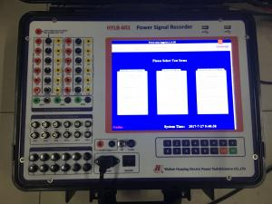 China Intelligent Power Signal Recorder Electrical Test Equipment 12.1 Inch Touch Screen Easy Operation on sale