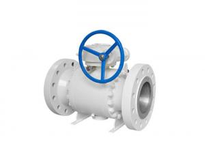 China Forged Body Trunnion Mounted Ball Valve Corrosion Resistant With Gear Operated on sale