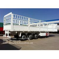 China 13 Meter Triple Axle Cargo Side Wall Trailer , 80 ton transportation trailer on sale