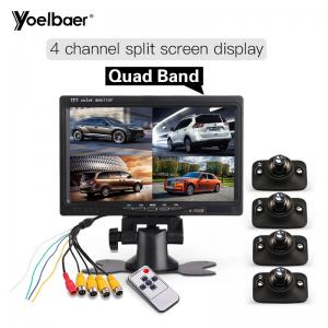 China High Definition 7 Quad Monitor For Car Side Blind Spot Parking Reversing Aid System on sale