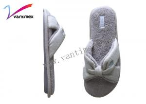 China Cotton Anti Skid Women Bathroom Slippers Breathable Slippers Open toed on sale