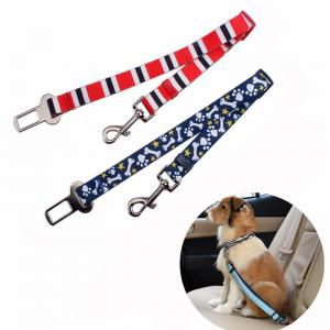 China Promotional Pet Car Safety Belt Colorful Dog Belt Logo Customized on sale