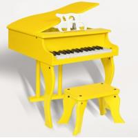 Yellow / White 30 Key Mini Toy Wooden Piano Children Wooden Musical Instrument  / Music Present FW30