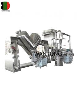 China V shaped mixer mixing production line on sale