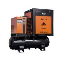 High quality 12 bar 15kw tank mounted small rotary screw air compressor