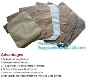 China Kraft Paper Sack With Pp Woven Plastic Raw Material Compound Kraft Paper Bag,sewn bottom pp woven lamination brown kraft on sale