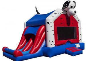 China Spotty Dog Inflatable Bounce House Jumping Bouncer 0.9mm Plato PVC For Amusement Park on sale