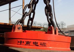 China Circular Electromagnetic Lifter for Steel Billet Lifting on sale