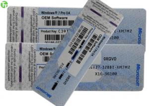 China COA License Sticker Windows 7 Pro Pack Windows 8.1 Product Key Code OEM Version on sale