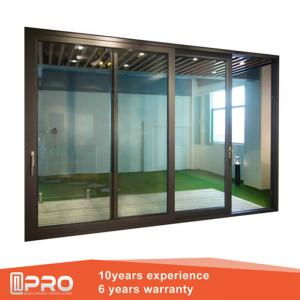China folding sliding glass doors Aluminum Sliding Glass Patio Doors Modern Design Custom Sliding Glass Doors on sale