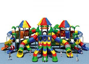 China KAIQI Fun Play Systems Playground Equipment Age Range 3-15 Years With Large Slide on sale