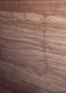 China ​Red Wooden Vein Marble Gloss Marble Floor Tiles Flooring Big Slab 2.7g / Cm³ Density on sale