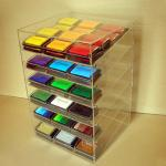 China Acrylic Slant-Front Locking Display Case With 6 Angled Shelves for Purses, Makeups wholesale