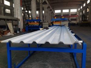 China Máquina da formação de folha do painel do telhado da folha de IBR para 0.3mm - 0.8mm PPGI/galvanizou a bobina on sale